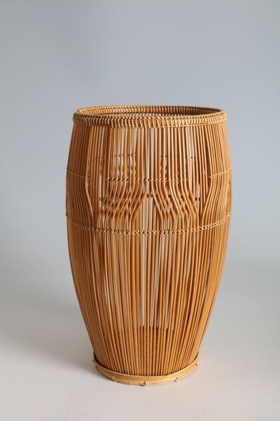 "Tanaka Kosai, '""Clear Stream"" Flower Basket  (T-2264)', Showa era (1926, 1989) 1960s, 1970s"