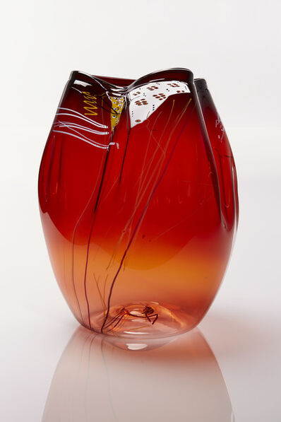 Dale Chihuly, 'Garnet Flame Basket with Drawing Shard', 2018