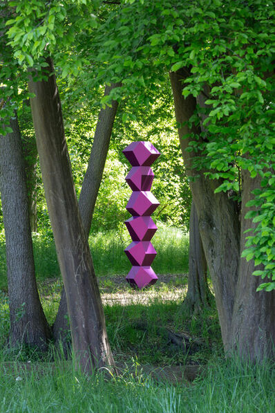 Angela Bulloch, 'Heavy Metal Stack of Six: Trichrome Purple', 2021