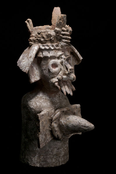 Unknown Pre-Columbian, 'Aztec Tlaloc Deity Incensario', 1200-1400