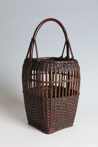 Tanabe Chikuunsai I, 'Flower Basket in the Form of an Armor Box (T-4372)', Showa era (1912, 1926), 1920s