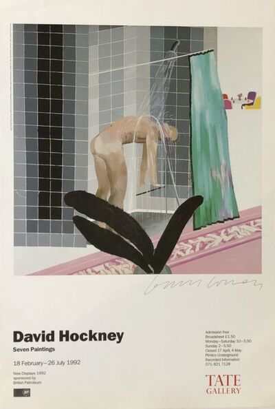 David Hockney, 'Hand Signed  'Man in Shower in Beverly Hills' ', 1992