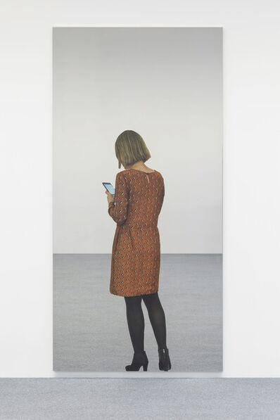 Michelangelo Pistoletto, 'Smartphone giovane donna 6 movimenti D', 2018