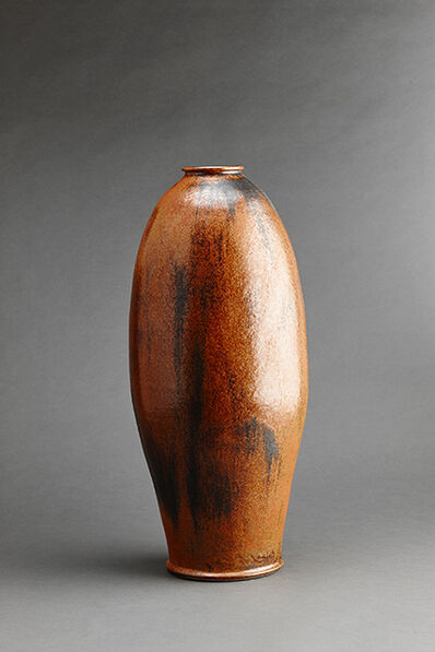 Brother Thomas Bezanson, 'Tall vase, burnt orange iron glaze'