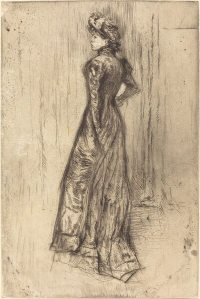 James Abbott McNeill Whistler, 'Maud, Standing', ca. 1873