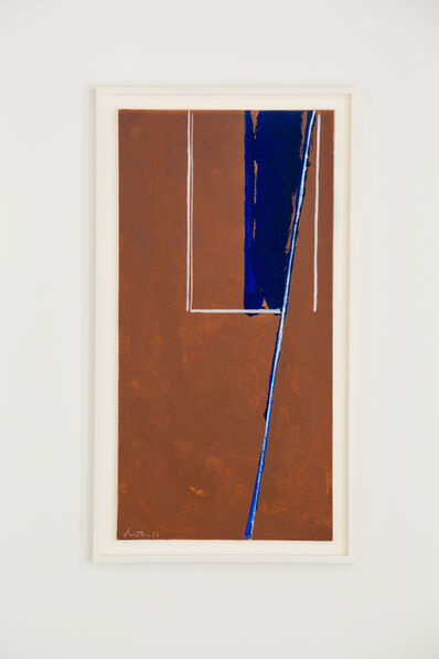 Robert Motherwell, 'In Blue and White in Umber', 1970