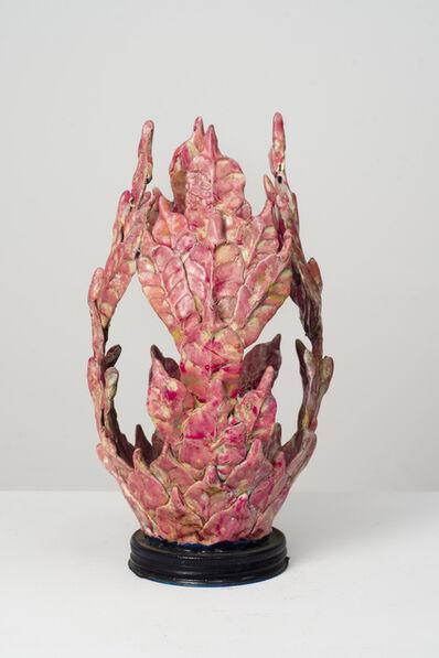 Eugene Von Bruenchenhein, 'Untitled (Pink and Gold Vessel with Jar Base Lid)', n.d.