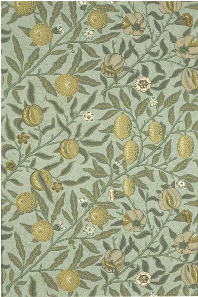 William Morris (b.1957), 'Fruit (Pomegranate) Wallpaper', ca. 1866