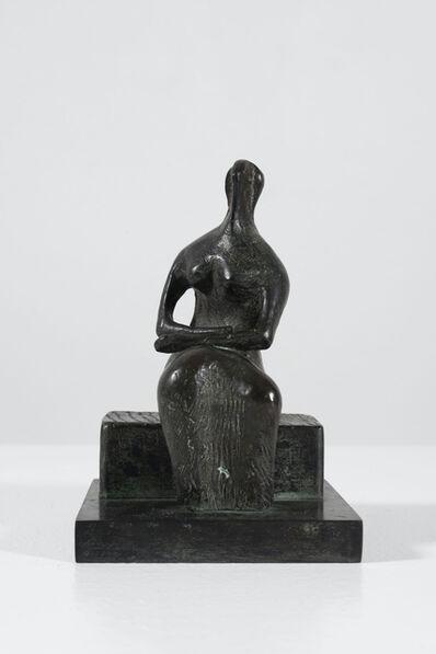 Henry Moore, 'Draped Woman on Block Seat', 1980