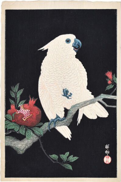 Ohara Koson, 'Cockatoo and Pomegranate', ca. ca. 1930s