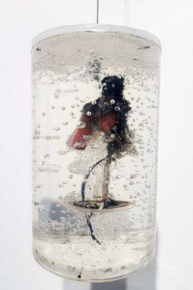 Vivien Roubaud, 'Feu d'artifice, gel de pétrole dégazé, combustion incomplète, tube PMMA', 2018