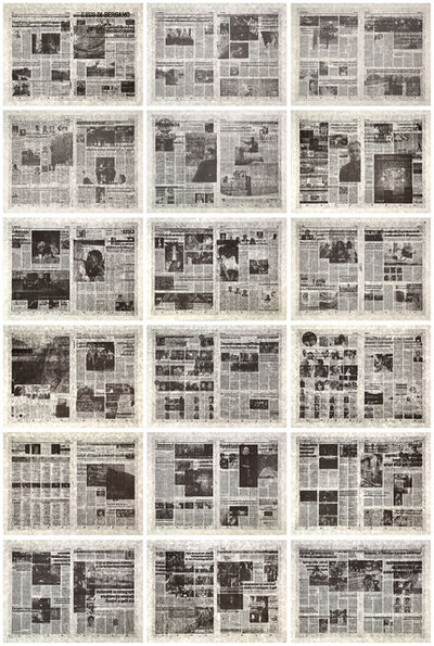 Jacob Kassay, 'L'eco di Bergamo -Set of 18 lithographs ', 2014