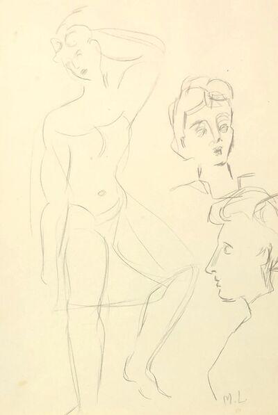Maggie Laubser, 'Figure Study', 1940-1950