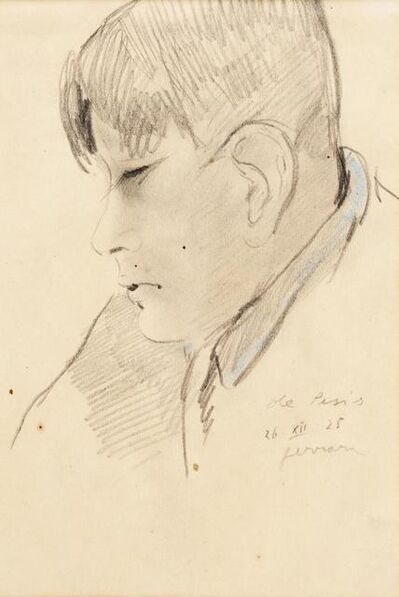 Filippo De Pisis, 'Ritratto Di Giovane', 1925