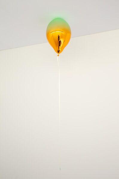Jeppe Hein, 'Light Green and Medium Orange Mirror Balloon', 2019