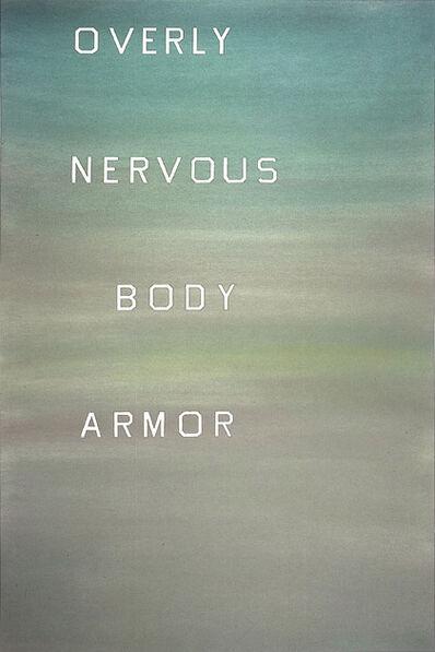 Ed Ruscha, 'Overly Nervous Body Armor', 1982