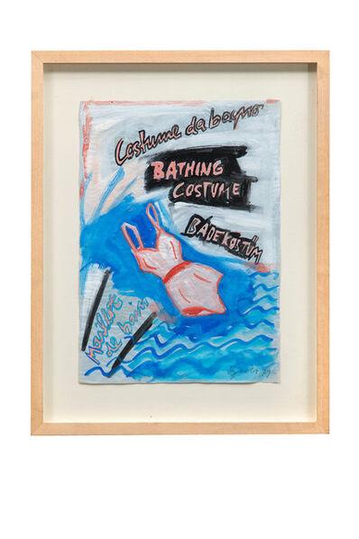 Elvira Bach, 'Badeanzug', 1979