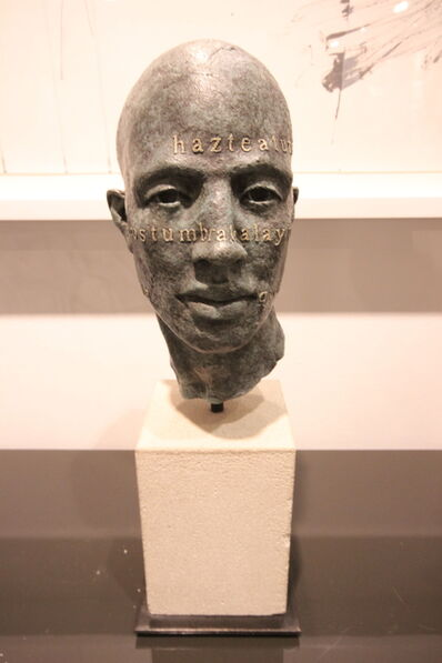 James Mathison, 'Head  With Text', 2007