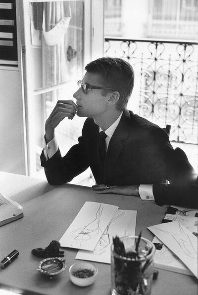 Marc Riboud, 'Yves Saint Laurent à sa table de travail (Yves Saint Laurent at his desk) Paris, 1964', 1964