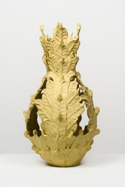 Eugene Von Bruenchenhein, 'Untitled (Yellow open-top vessel)'