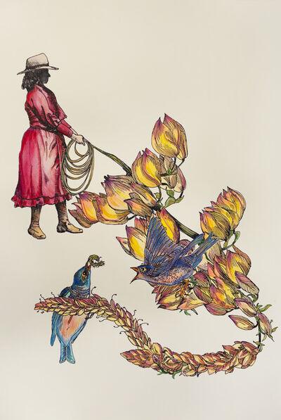 Cynthia Dinan-Mitchell, 'Femme et lasso : jardin secret', 2014
