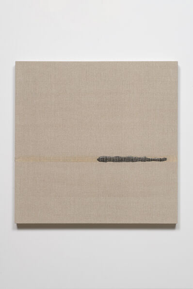 Analía Saban, 'Composition with Woven Brushstroke (Black) #2', 2019