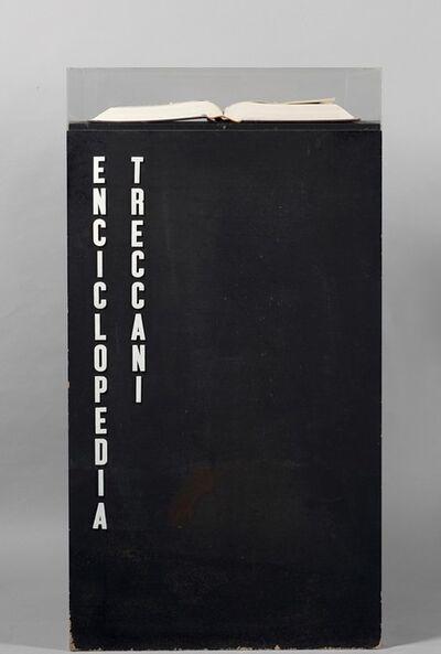 Emilio Isgrò, 'Enciclopedia Treccani Volume VII (La incinta)', 1970