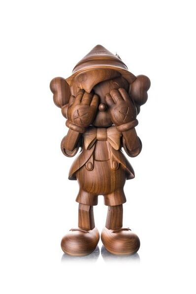 KAWS, 'Pinocchio Wood by Medicom x Disney x Karimoku ', 2018