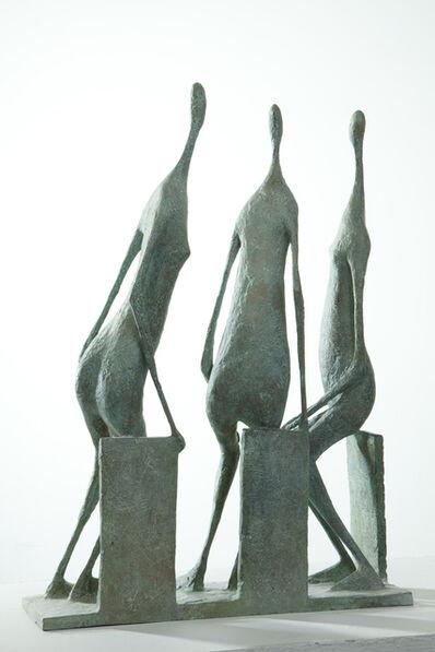 Pierre Yermia, '3 Seated Figures II', 2014