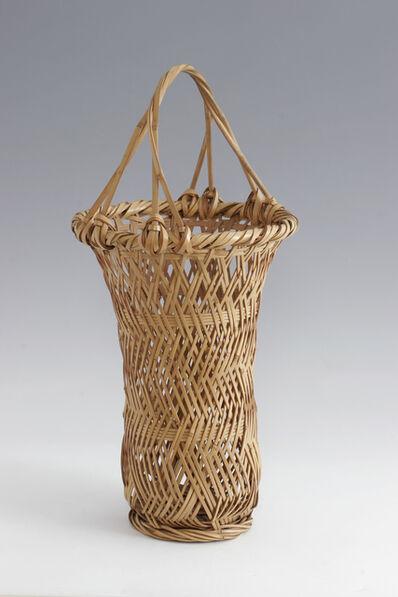 Tanabe Chikuunsai I, 'Bamboo Ikebana Basket (T-0644)', Taisho, early Showa eras, ca. 1920's, 30's