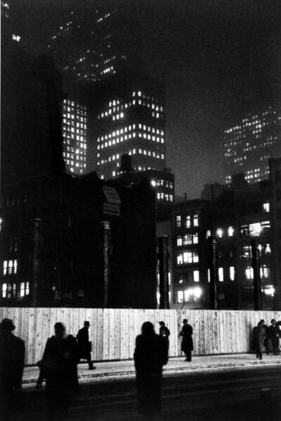 Louis Faurer, 'Construction Site on Madison Ave., New York', 1974