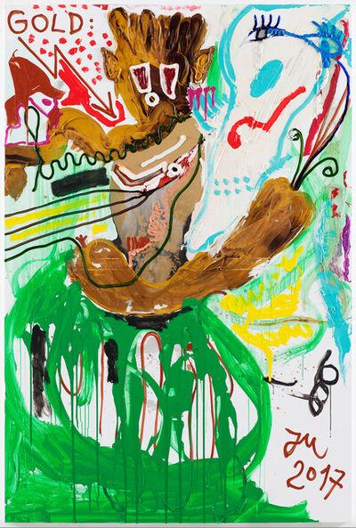 """Jonathan Meese, '""""GOLDENE ERZBASIS """"K.U.N.S.T."""" IM 1. POLITIKLOSEN STALL""""', 2017"""