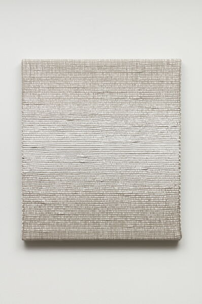 Analía Saban, 'Woven Horizontal Reflected Linear Gradient as Weft (Center, White)', 2019