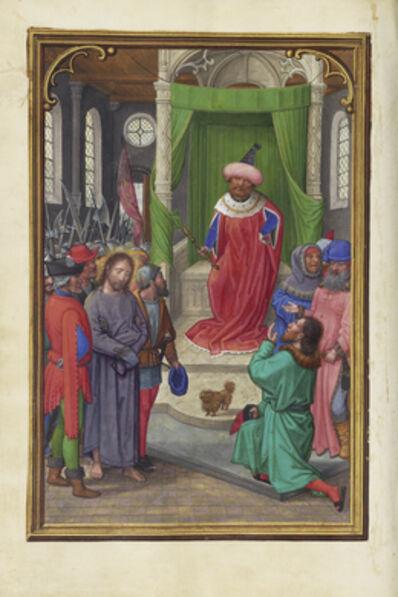 Simon Bening, 'Christ before Herod', 1525-1530