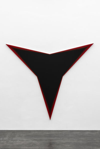Philippe Decrauzat, 'Black Should Bleed to Edge (Red)', 2012