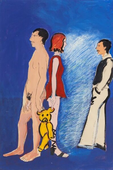Joan Brown, 'Mary, Julia, and David #3', 1976
