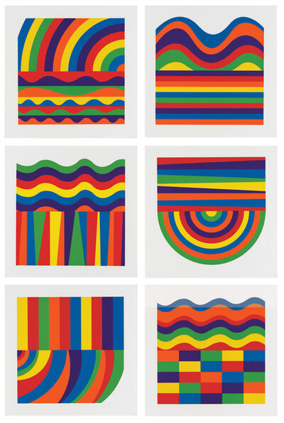 Sol LeWitt, 'Arcs and Bands in Color', 2000