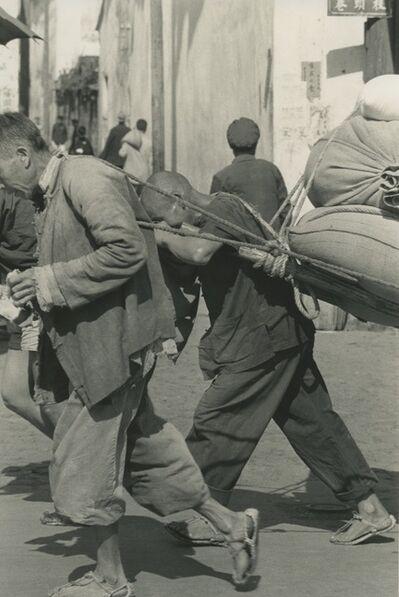 Hiroshi Hamaya, 'Men dragging sacks, China', c. 1960s