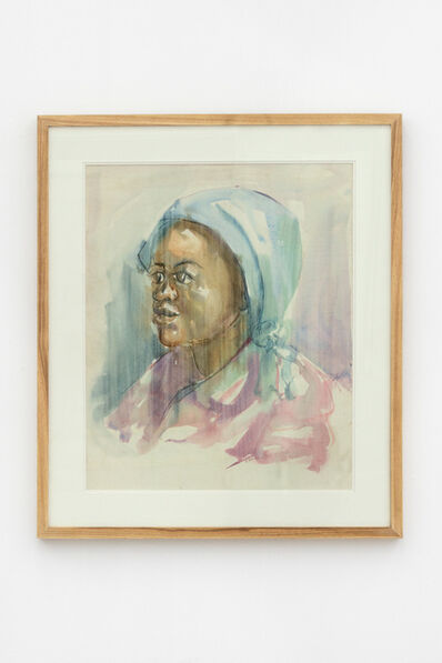 Durant Sihlali, 'Woman in blue headscarf', 1974