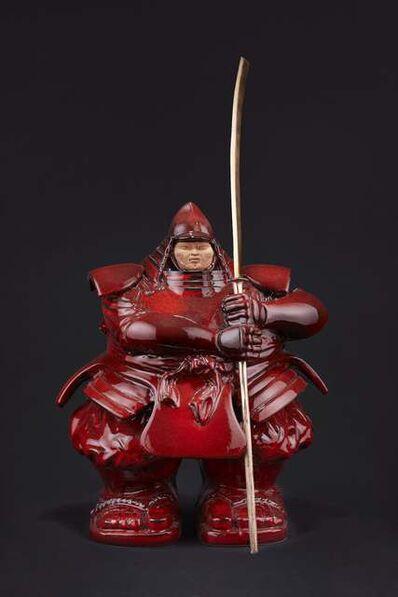 Matteo Pugliese, 'Samurai Guardian (Ceramic, Red)', 2020