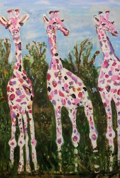 Marjorie Magid, 'Three Dreamy Giraffes', ca. 2016