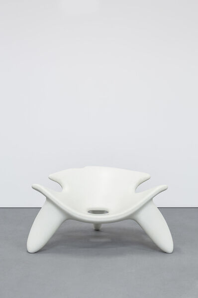 Wendell Castle, 'Concrete Chair (white)', 2010
