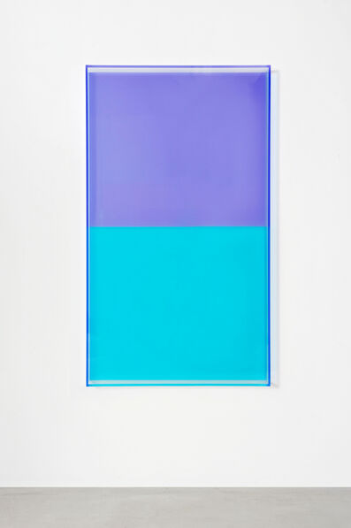 Regine Schumann, 'colormirror türkis violet', 2018