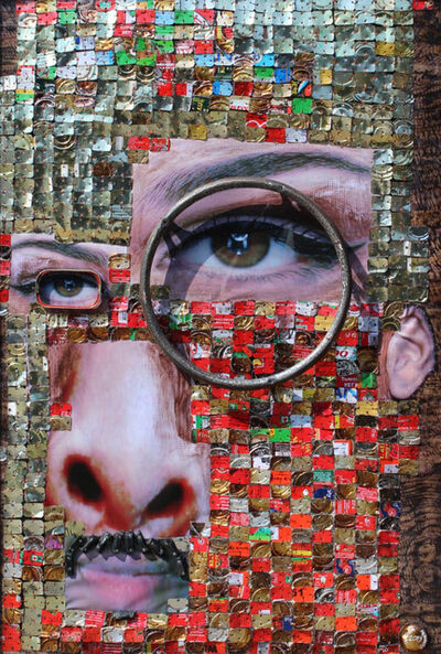 Samson Akinnire, 'Face V', 2019