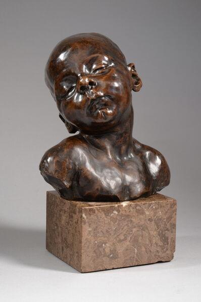 Jules Dalou, 'BUSTE DE BEBE ENDORMI', ca. 1920