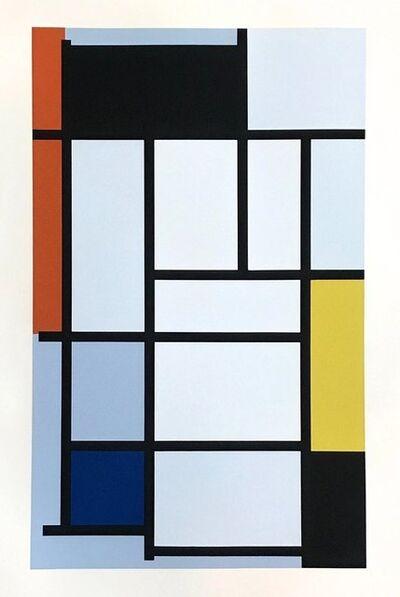 Piet Mondrian, 'Composition rouge, jaune, bleu', 1957