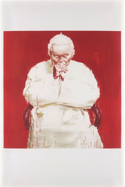 Yan Pei-Ming, 'Pope Jean-Paul II, from Iĉones', 2005