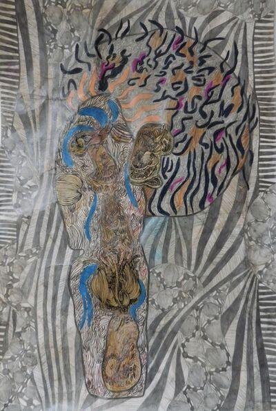Geneviève Seillé, 'Tattooed head', 2015
