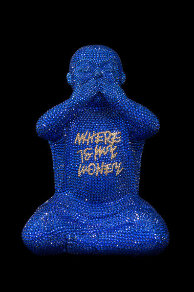 """Metis Atash, '""""WHERE IS MY MONEY"""" IN MAJESTIC BLUE', 2021"""