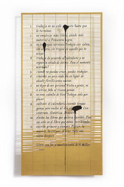 Pablo Lehmann, 'Lista de Roland Barthes ', 2018